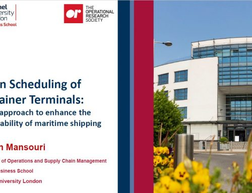 Online seminar »Green scheduling of container terminals: A new approach to enhance the sustainability of maritime shipping« on June 30th, 2021